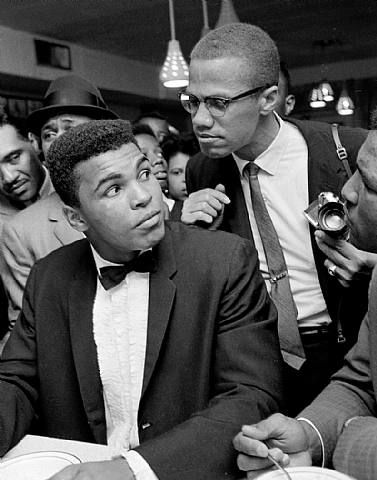 It's X's Birthday if you are inclined to care. Bob Gomel, Cassius Clay and Malcolm X, Miami