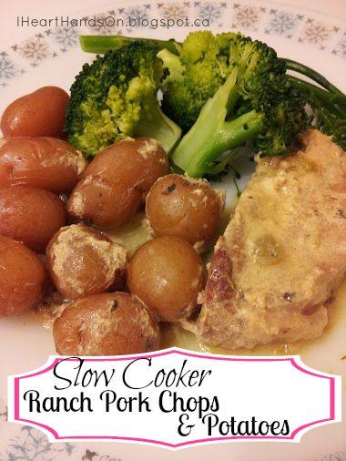 IHeart Hands-on: Slow Cooker Ranch Pork Chops & Potatoes  ☀CQ #crockpot #slowcooker   http://www.pinterest.com/CoronaQueen/crockpot-corona/