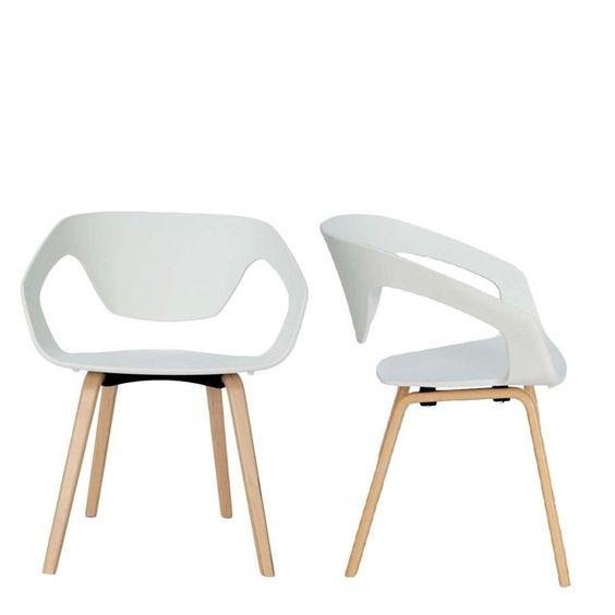 lot de 2 chaises design scandinave danwood drawer. Black Bedroom Furniture Sets. Home Design Ideas