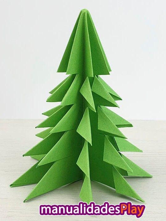 Arbol De Navidad De Papel Manualidades Paso A Paso Arboles De Navidad De Papel Arbol De Navidad Manualidades