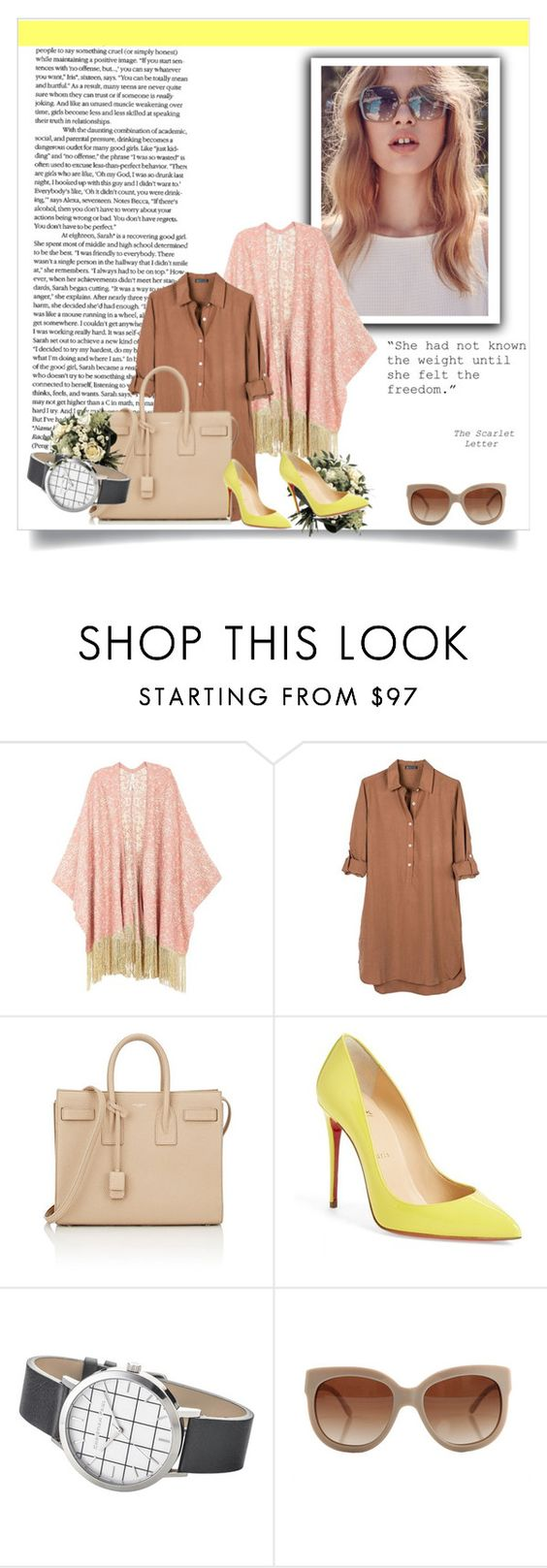 """""""Casual chic!"""" by vassiascissors ❤ liked on Polyvore featuring BB Dakota, Melissa McCarthy Seven7, United by Blue, Yves Saint Laurent, Christian Louboutin, Elwood, STELLA McCARTNEY and plus size clothing"""