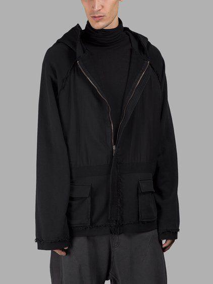 HAIDER ACKERMANN Haider Ackermann Men'S Black Hoodie. #haiderackermann #cloth #sweaters