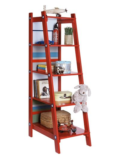 Rouge on pinterest - Etagere echelle rouge ...
