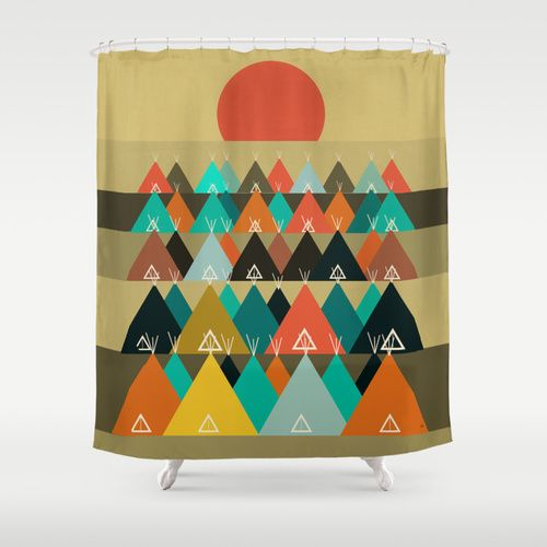 Tipi Moon Shower Curtain