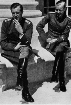 """Nazi aesthetics. Otto-Gunsche: """"  Otto Günsche and Hans Hermann Junge by Heinrich Hoffmann, in [1943?]. """""""