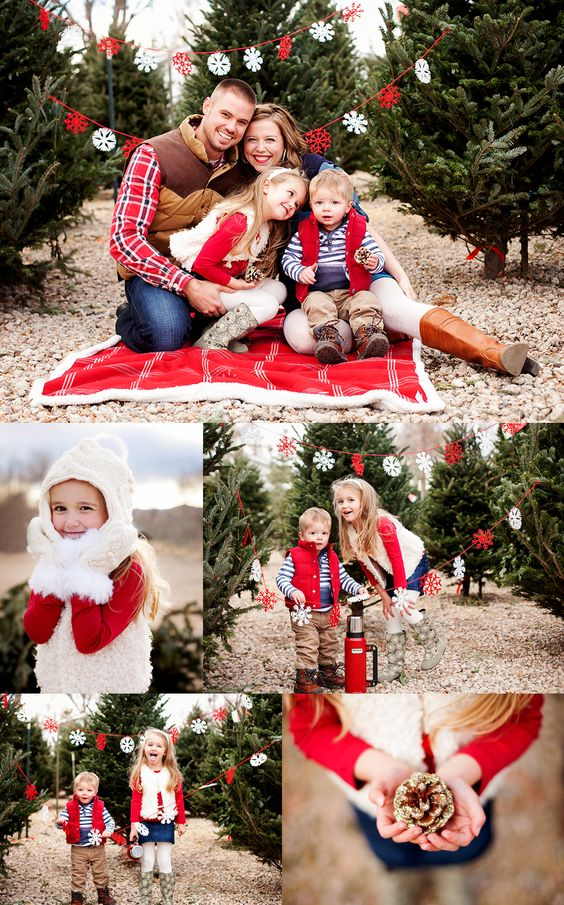 A Very MERRY Session! make garland and hang on the trees in the backyard for Christmas sessions :)