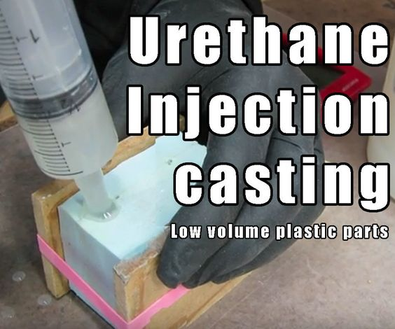 Injection cast urethane in a silicone mold. Super useful skill!
