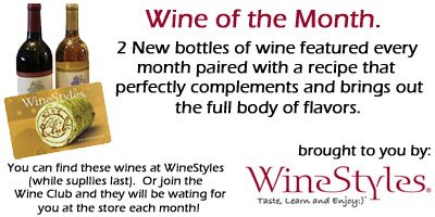 2 great recipes paired with two great wines! Wine of the Month by WineStyles via @FloMoFamily