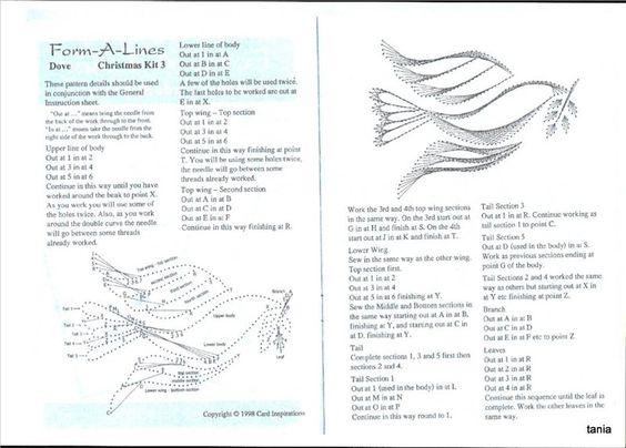 DoveInstructions  String Art    String Art Paper