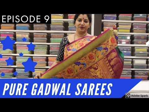 Pure Gadwal Sarees Gayathri Reddy Traditional Designer Studio Eps 9 Sainikpuri Boutique Handloom Youtube Saree Designs Saree Pure Products