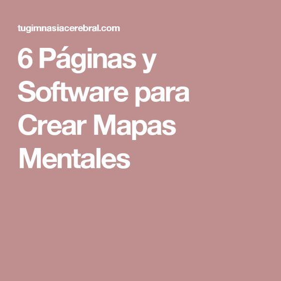 6 Páginas y Software para Crear Mapas Mentales