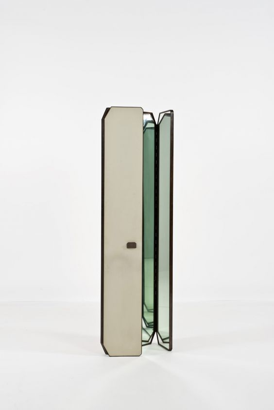 BBPR; Unique Double Door Wall-Mounted Mirror, 1959. I wouldn´t mount it, free standing seems more elegant to me.