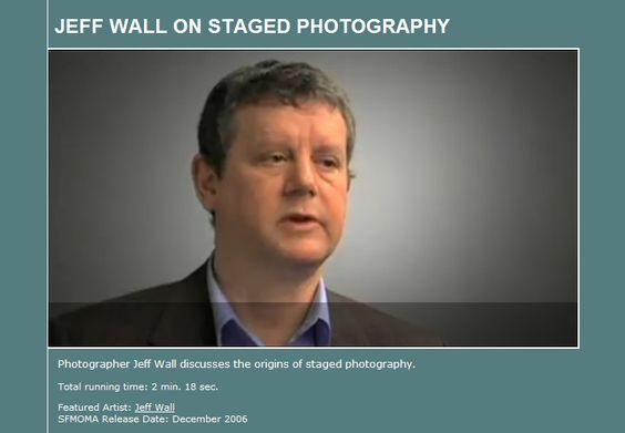 Canadian photographer Jeff Wall discusses the origins of staged photography.    SFMOMA; 2 min. 18 sec. (captioned)