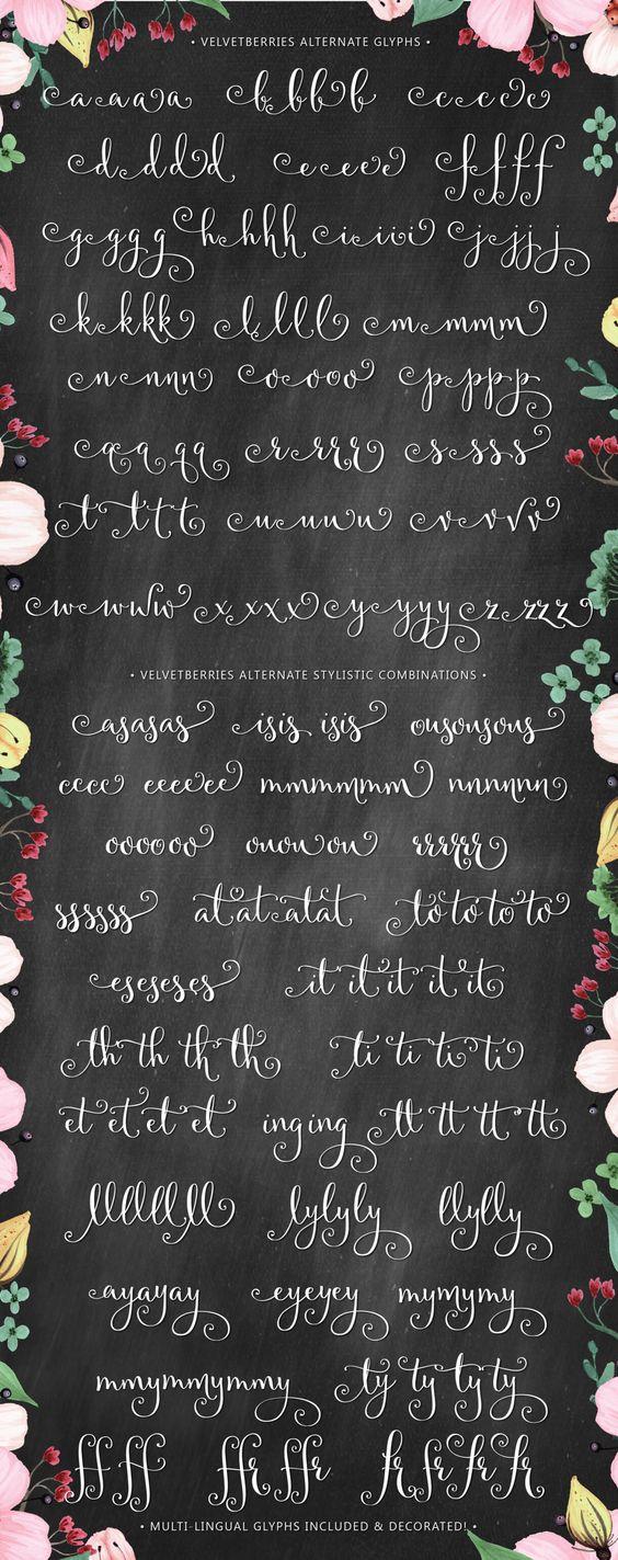Velvetberries script shops fonts and