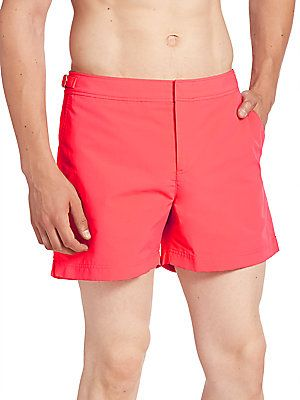 Orlebar Brown Solid Swim Shorts - Coral