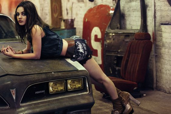 Driver's Ed – Photographer Craig McDean captures a sultry Mila Kunis in these edgy shots accompanying her cover story for the August issue of Interview Magazine. Candidly interviewed by pal James Franco, the hot actress dishes on life in the fast lane while McDean's photos find her in a bad girl wardrobe of leather and denim styled by Karl Templer.    Read the full interview on InterviewMagazine.com