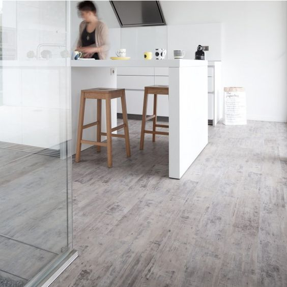 "Lame PVC clipsable Gerflor Senso Lock ""Story Taupe"" 