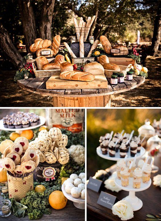 Formas originales presentar comida boda 6 pan dulces for Comidas originales