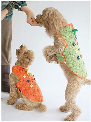 Crocheted Summer Pet Coat: Toy Poodle pattern by Etsuko ...