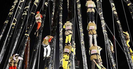 Trèo cột - một lễ hội độc đáo tại Đài Loan