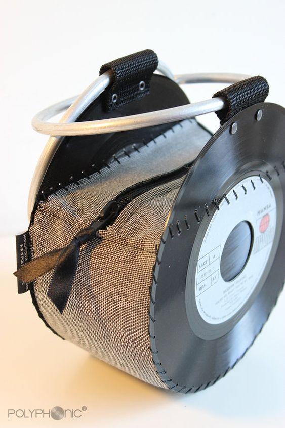 Vinyl Record Handbag Evening Purse Bag Retro By