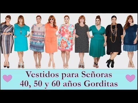 Vestidos Para Señoras 4050 Y 60 Años Moda Para Gorditas