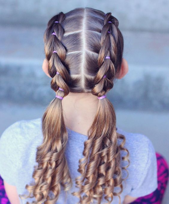 Braided Hairstyle Children Kids For School Little Girls Children S Hairstyles For Long Hair Cute Child Childr Kids Braided Hairstyles Girl Hair Dos Hair Styles