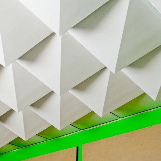 Tessellated ceiling tiles