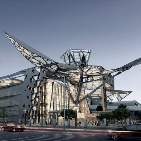 Moving buildings Archives - Dezeen.Facade that flaps like the wings of a huge insect.