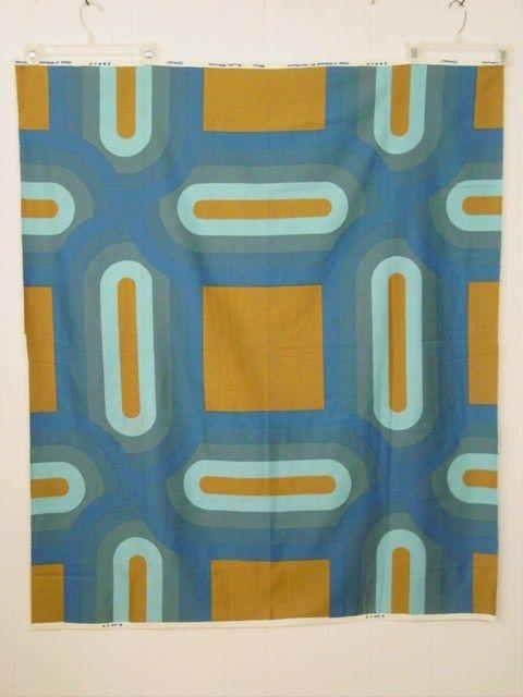Vintage 1970s Danish Modern Wall Art Fabric Tampella Ovaali   eBay