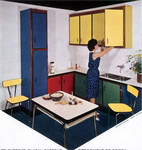 cuisine en glasal elo concurrent du formica en 1962 - Formica Cuisine