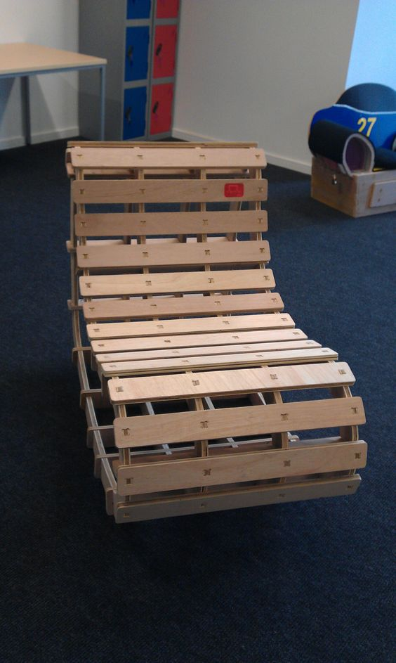 full size rocking recliner. The winner of the 2012 fab lab bootcamp. Cut using 6mm ply on the CNC Router (shopbot)