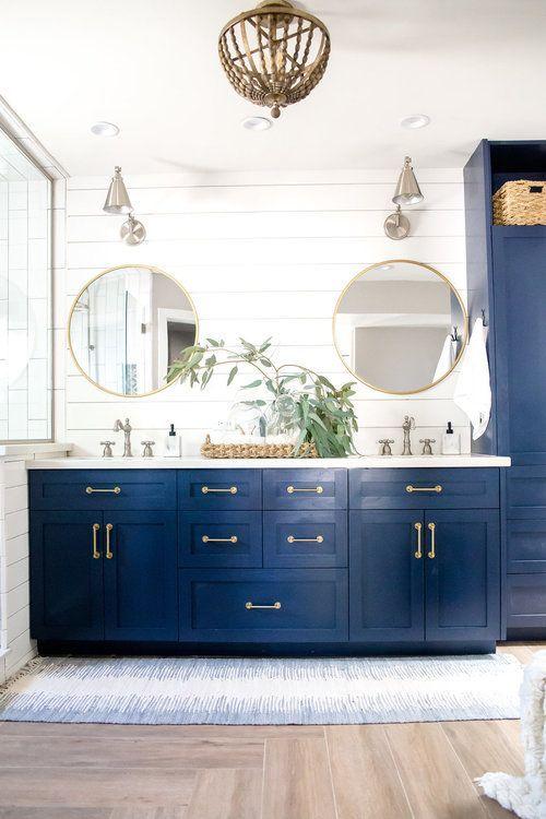 45++ Navy blue vanity bathroom ideas model