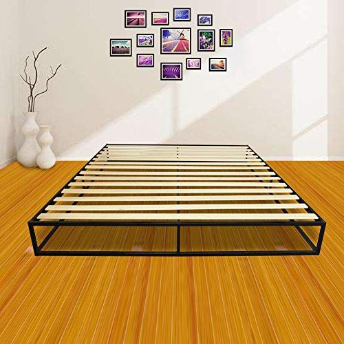 Bigbanana 10 Inch Metal Bed Frame Wooden Slats Wood Platform Bedroom Mattress King Metal Platform Bed Bed Frame Sizes Bed Frame
