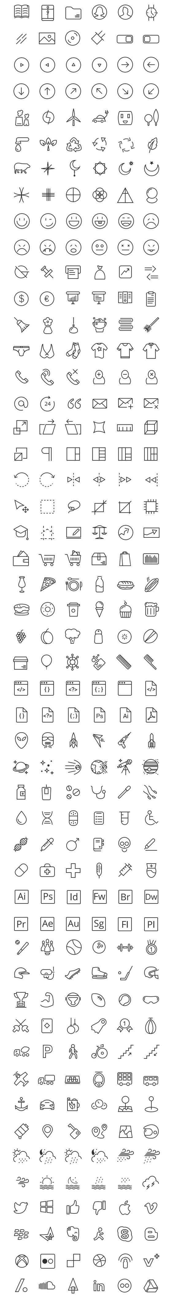 Free Download : RetinaIcon 300 Free Icons ( following Apple's iOS guidelines)