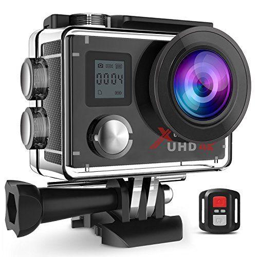 Campark Act76 Action Cam 4k Wifi 16mp Ultra Hd Sport Action Camera Con Dual Screen Telecomando 170 Grandangolare Due 1050ma Con Immagini Videocamera Camera Sport Fotocamere