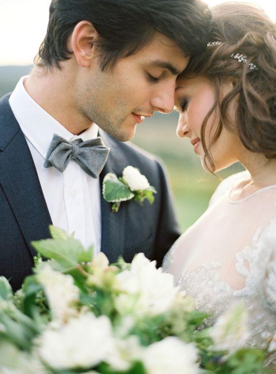 romanctic wedding couple