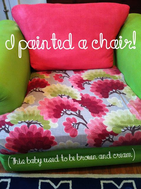 beauty for comfort blog: how to paint a fabric chair