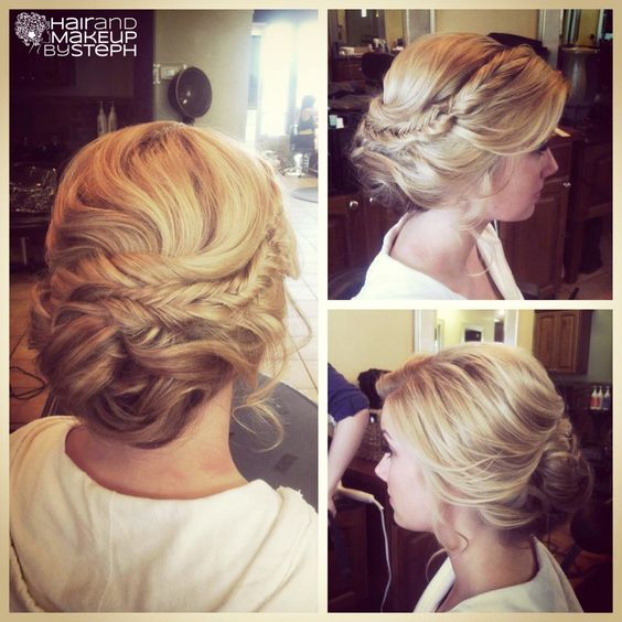 Soft wedding updo: Wedding Hair, Hair Styles, Hair Beauty, Prom Hair, Hair Makeup, Fishtail Braids
