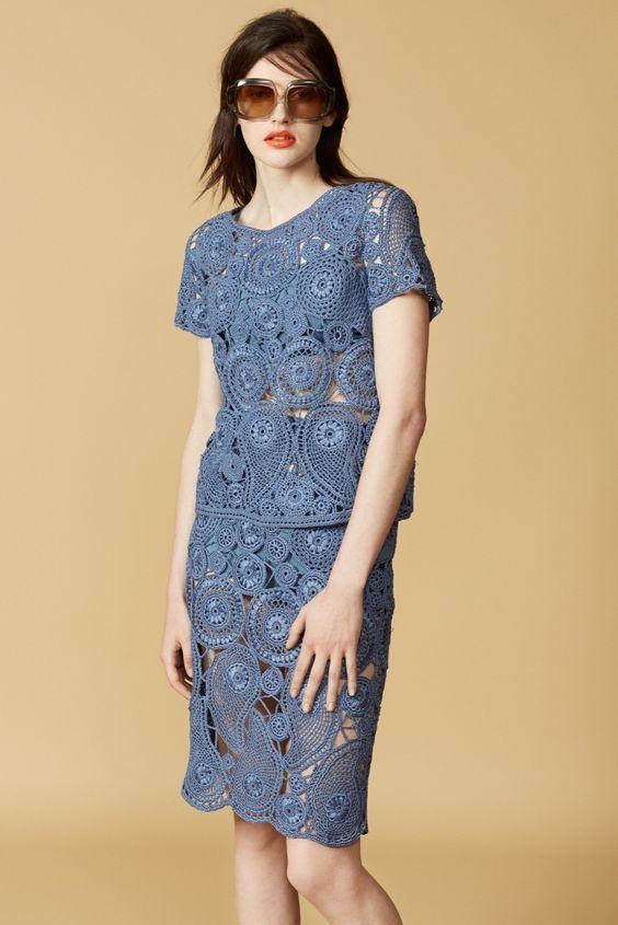 Orley Resort E Primavera 2016 Moda Em Croche Vestido De Croche Adulto Vestido De Croche Moda