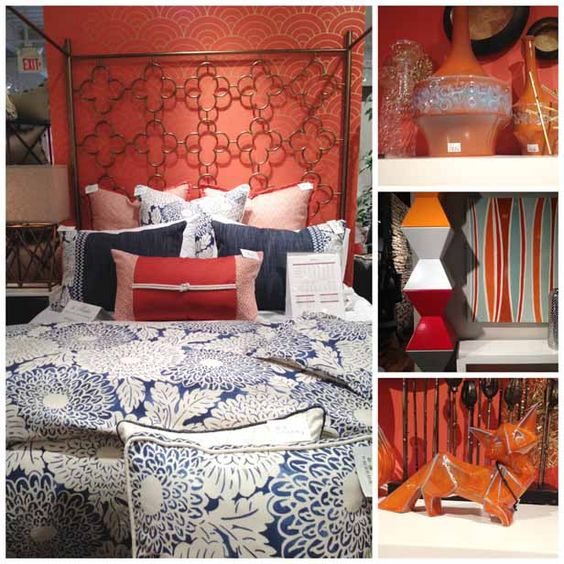 Orange Color Trend at High Point Spring 2014 Furniture Market (http://blog.hgtv.com/design/2014/04/15/spring-decorating-trends-from-high-point-furniture-market/?soc=pinterest)