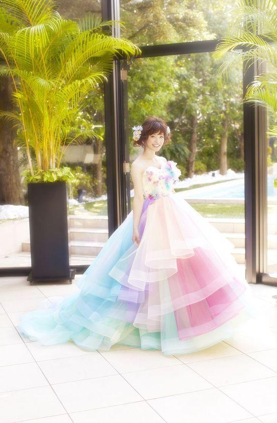 女の子の夢が詰まった魔法のドレス♡『THE HANY』のカラードレスに感動!にて紹介している画像: