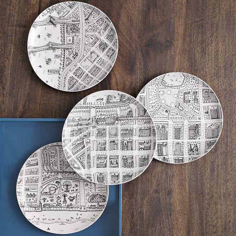This Brooklyn girl needs these.: Plates Westelm, Dinner Plates, City Plates, Neighborhood Plates, Map Plates, Nyc Neighborhood