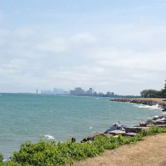 Chicago in the distance