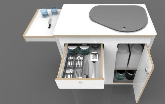 kitchen pod vw camper van conversions cool stuff pinterest kleine k chen camper und. Black Bedroom Furniture Sets. Home Design Ideas