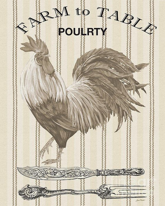 Farm To Table-jp2110 Poster By Jean Plout: