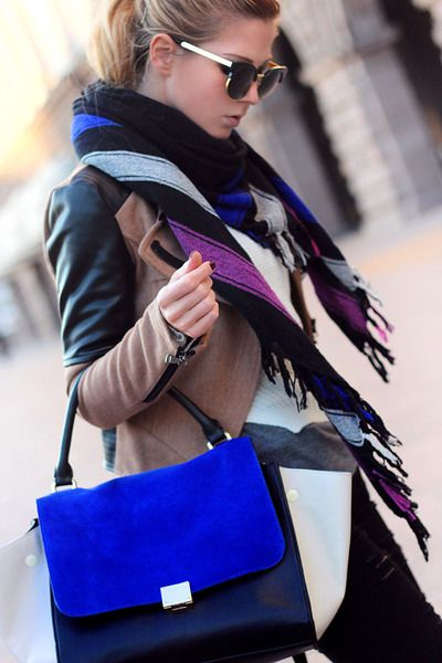 Casual with Marant - Royal blue colorblocked bag | Street style