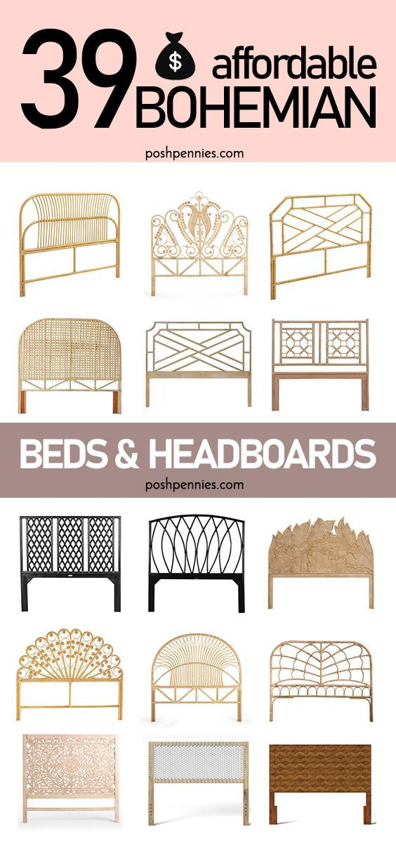 The Best Affordable Boho Beds And Headboards Rattan And Wood Boho Bedding Beautiful Bedrooms Boho Headboard