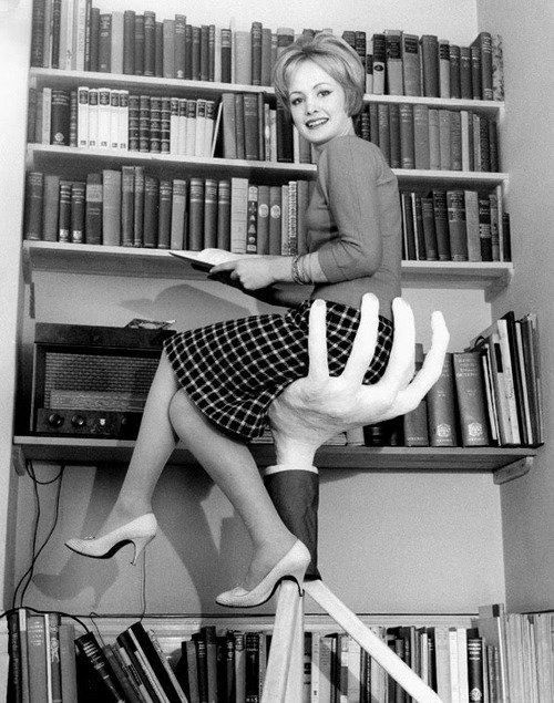 Yikes!    Interesting position for #reading :-)