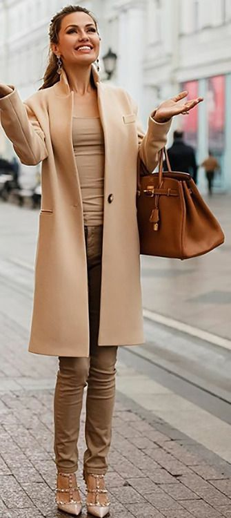 Monochromatic camel. Perfectly tailored and fitted in beautiful fabrics. YES.